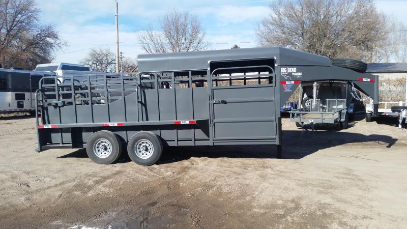 2020 Big Bend 18' HALF TOP Livestock Trailer