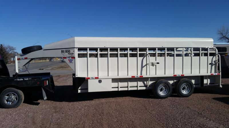 2020 Big Bend 20' FULL TOP Livestock Trailer