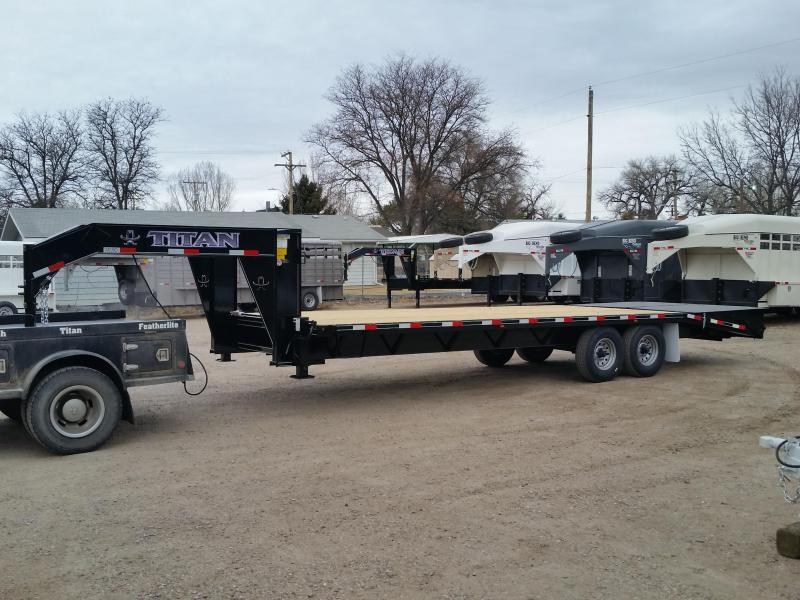 2019 Titan Trailers 26 RUFF NECK GN Flatbed Trailer