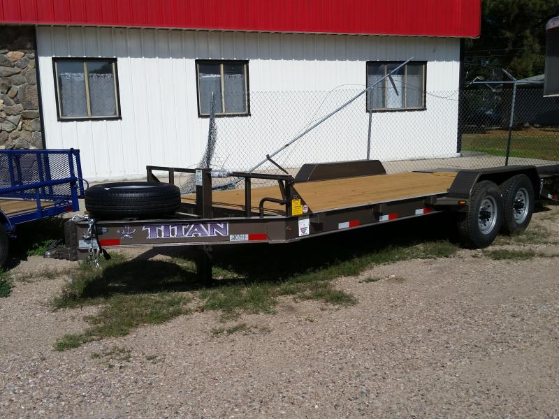 2019 Titan Trailers 19' BH FALTBED Flatbed Trailer