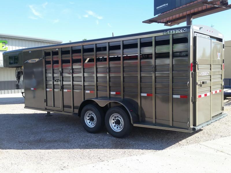 2019 Titan Trailers 20 STOCK COMBO Livestock Trailer