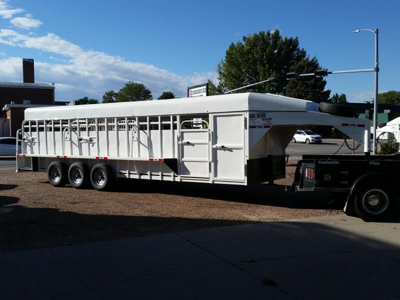 2019 Big Bend 28 FULL TOP Livestock Trailer