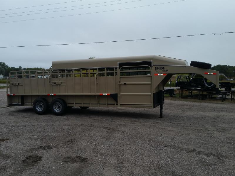 2019 Big Bend 24' 3/4 TOP Livestock Trailer