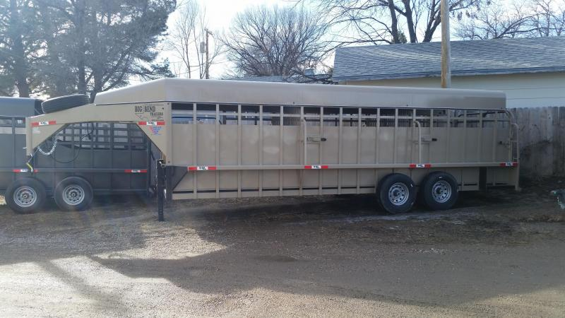 2020 Big Bend 24' FULL TOP Livestock Trailer