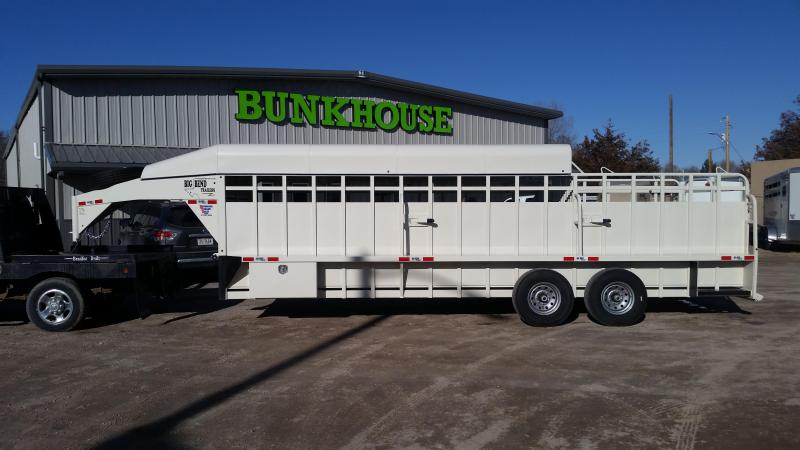 2020 Big Bend 24' 3/4 TOP Livestock Trailer