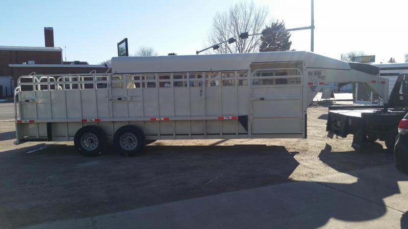 2020 Big Bend 24' 3/4 TOP Livestock Trailer