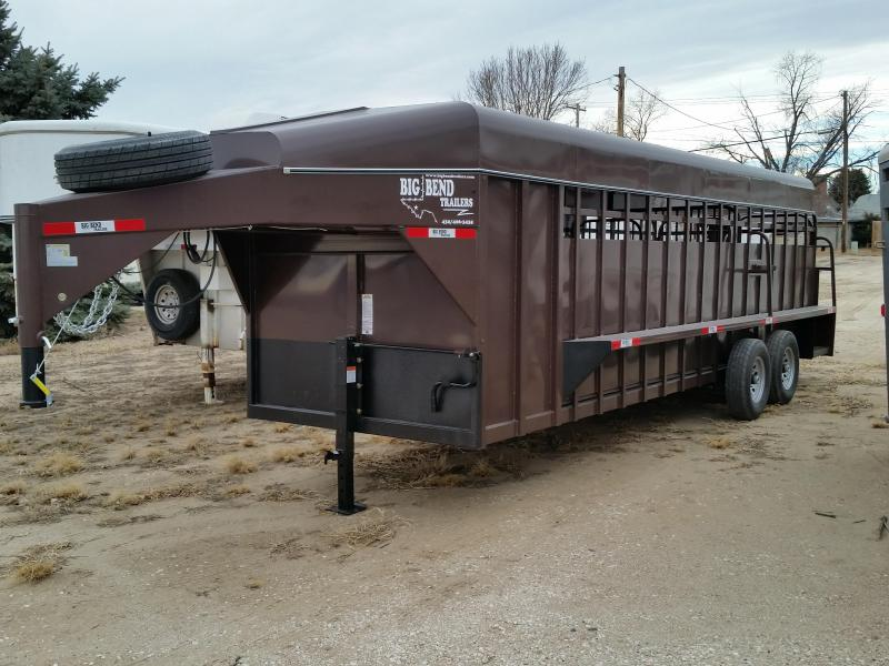 2019 Big Bend 24FT FULL TOP Livestock Trailer