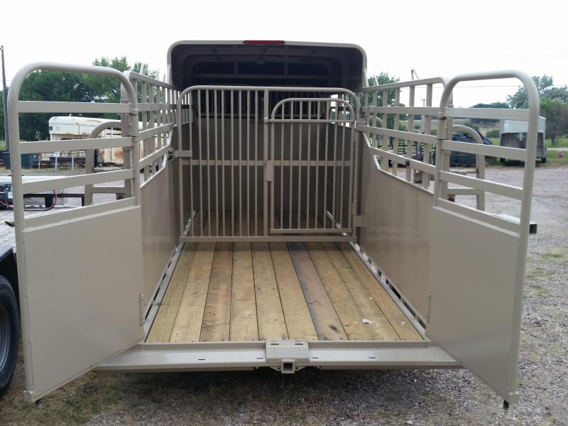 2019 Big Bend 16' SINGLE AXLE HALF TOP Livestock Trailer