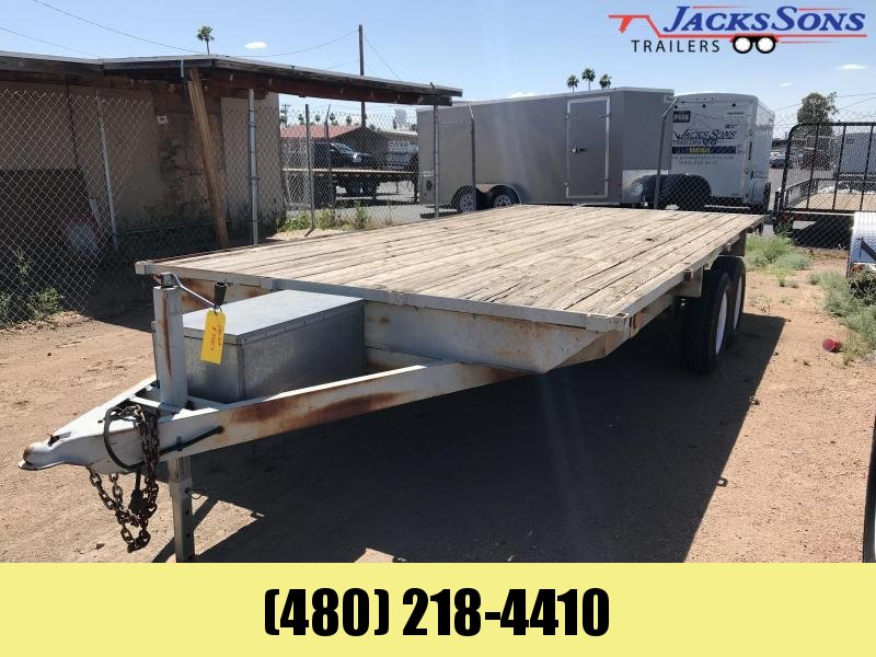 2008 Homemade 102X18 Flatbed Trailer