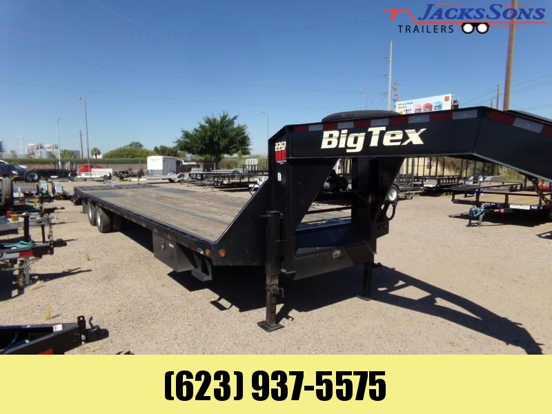 2016 Big Tex Trailers 35 FT GOOSENECK 30 +5 MEGA RAMPS WINCH Flatbed Trailer