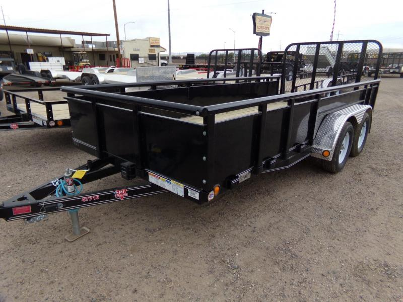 2019 PJ Trailers 16X77 TANDEM HIGH SOLID SIDE LANDSCAPE UTILTY Utility Trailer