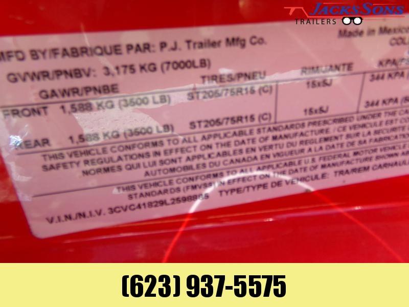 2020 PJ Trailers 18 FT CARHAULER STEEL DECK RED POWDER COAT Car / Racing Trailer