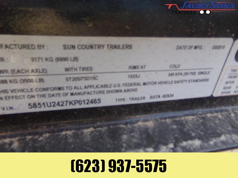 2019 Sun Country 24 FT 2 UTV RAZOR / CAN AM ATV Trailer