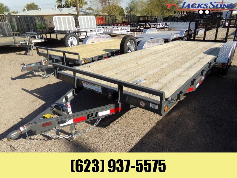 2020 PJ Trailers 22 X 83 C5 5 INCH CHANNEL CAR HAULER GREY Car / Racing Trailer