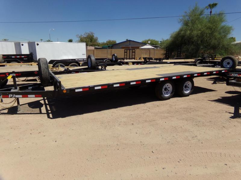 2020 PJ Trailers DECKOVER 20 FT 102 WIDE 10K GVWR Flatbed Trailer