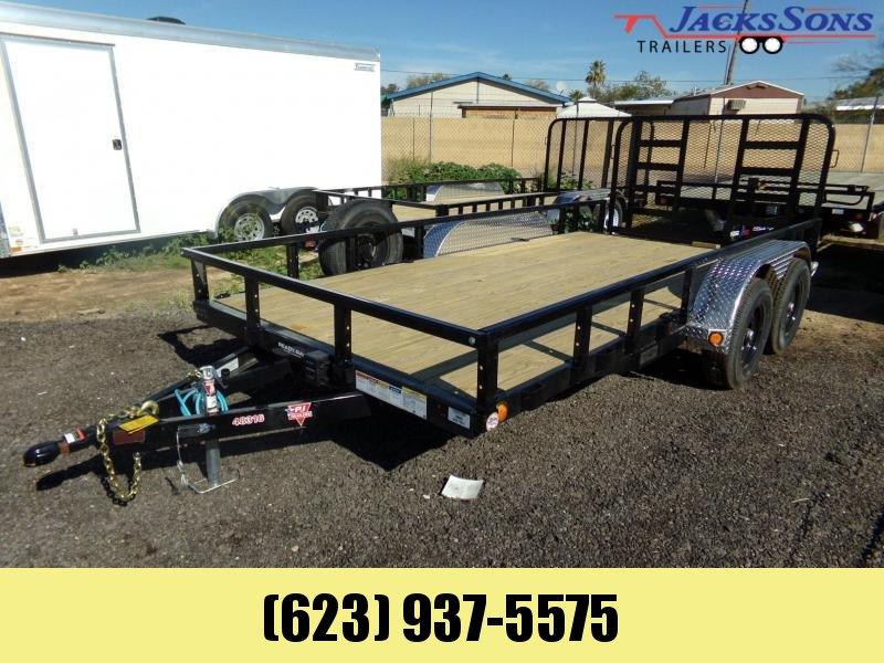 2020 PJ Trailers 16 X 83 HD TANDEM UTILITY W RAMP GATE Utility Trailer