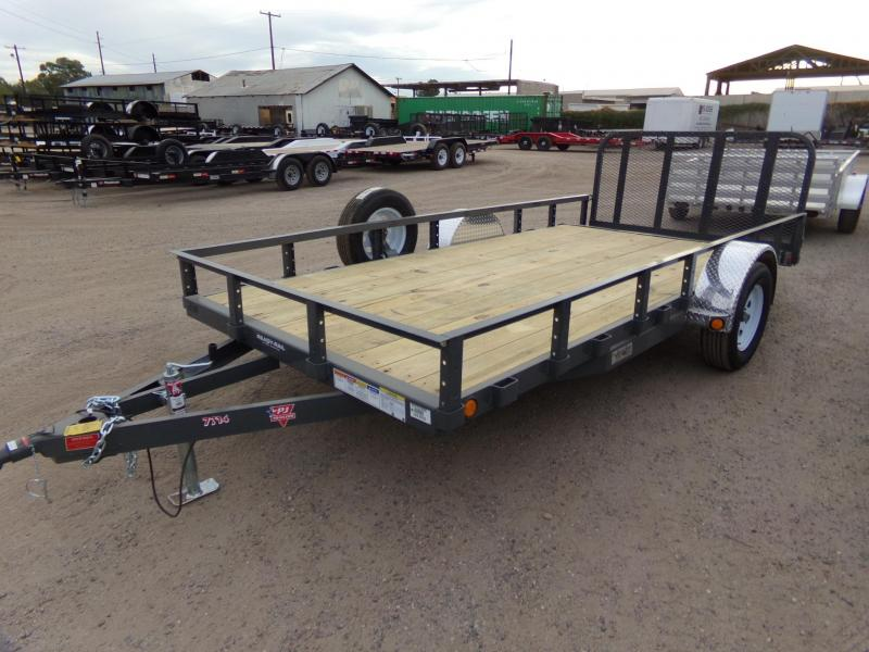 2019 PJ Trailers 14X77 UTV ATV UTILTY RAMP GATE TRAILER ATV Trailer