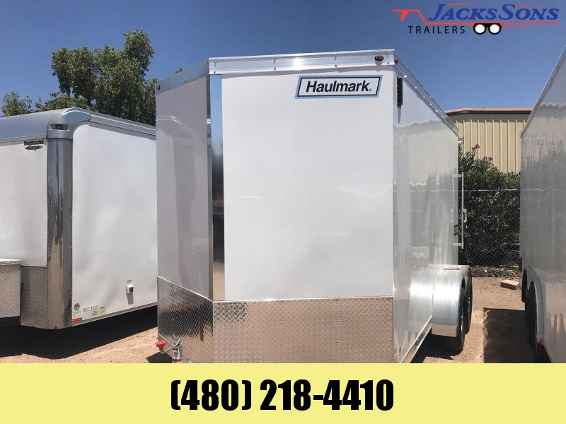 Manager Special! Haulmark 7X14 All ALUMINUM Enclosed Cargo Trailer