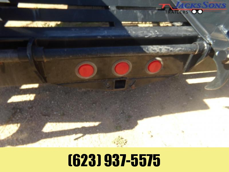 2015 PJ Trailers 32 FT GOOSENECK 102 X 32 DOVE TAIL W RAMPS Flatbed Trailer
