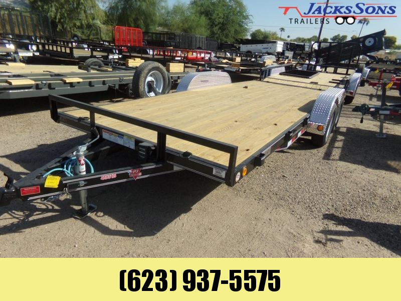 2020 PJ Trailers 18 FT CAR HAULER BLACK POWDER COAT Car / Racing Trailer