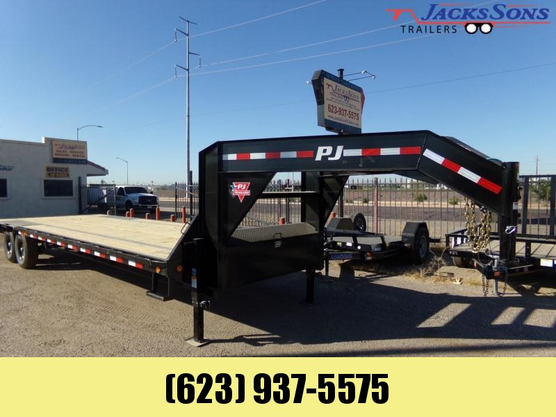 2020 PJ Trailers 30 FT LO PRO FLAT DECK 15.6 K W/ MONSTER RAMPS Flatbed Trailer