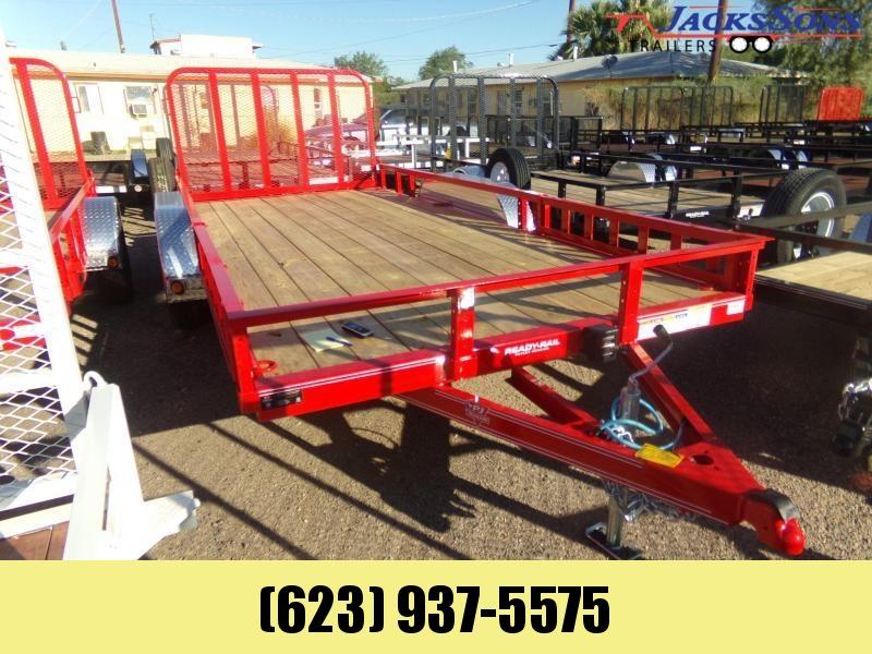 2020 PJ Trailers 16 X 83 UTV RAMP GATE UTILITY RED Utility Trailer