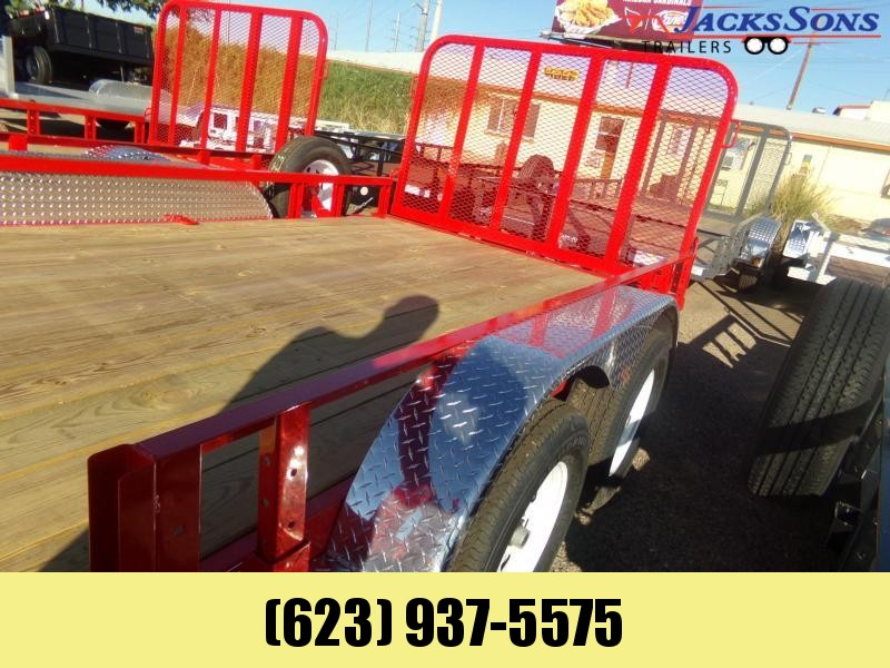 2020 PJ Trailers 16 X 83 UTV RAMP GATE UTILITY RED Utility Trailer