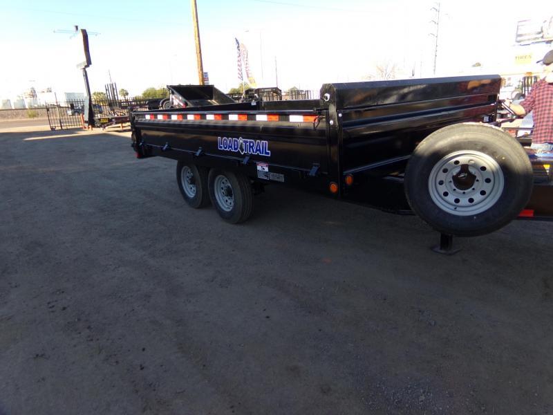 2019 Load Trail DECK OVER DROP SIDE DUMP TRAILER 14 FT. Dump Trailer