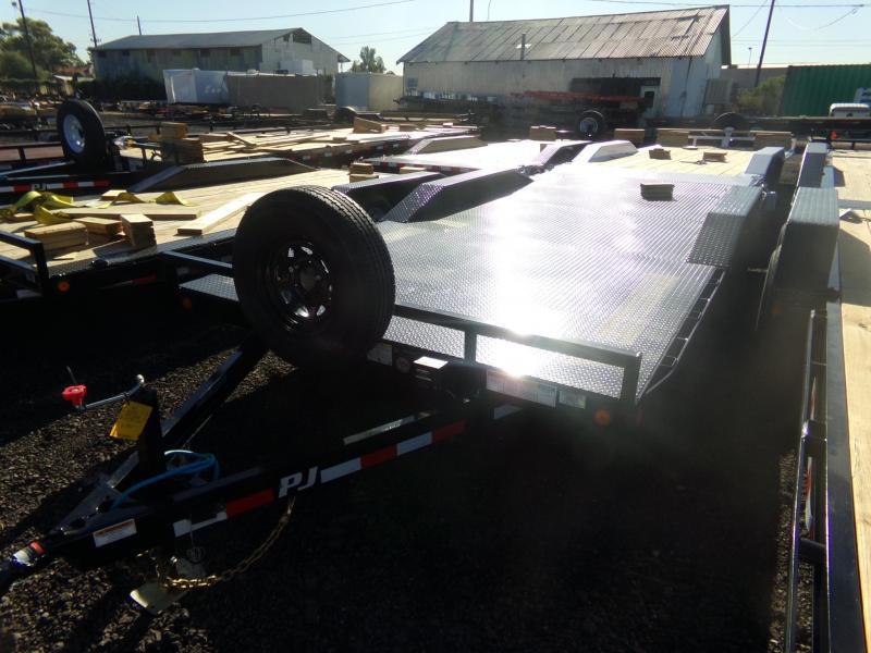2020 PJ Trailers 18 FT STEEL DECK BUGGY / CAR HAULER 5200 AXLES Car / Racing Trailer