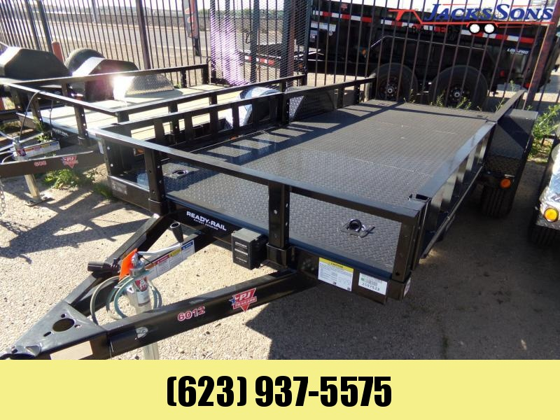 2020 PJ Trailers 5 X 12 STEEL DECK UTILITY W /BRAKES SIDE RAMPS Utility Trailer
