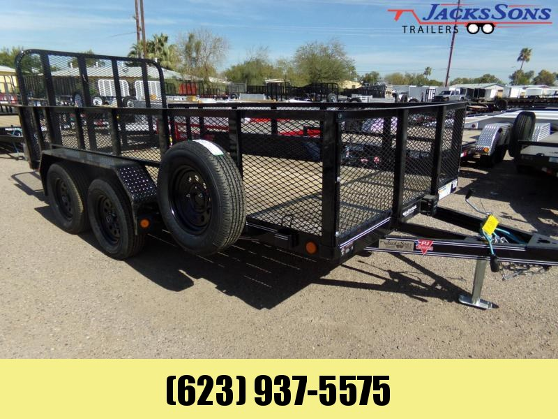 2020 PJ Trailers 77 X 14 2 FT HIGH EXPANDED METAL SIDES 7K Utility Trailer