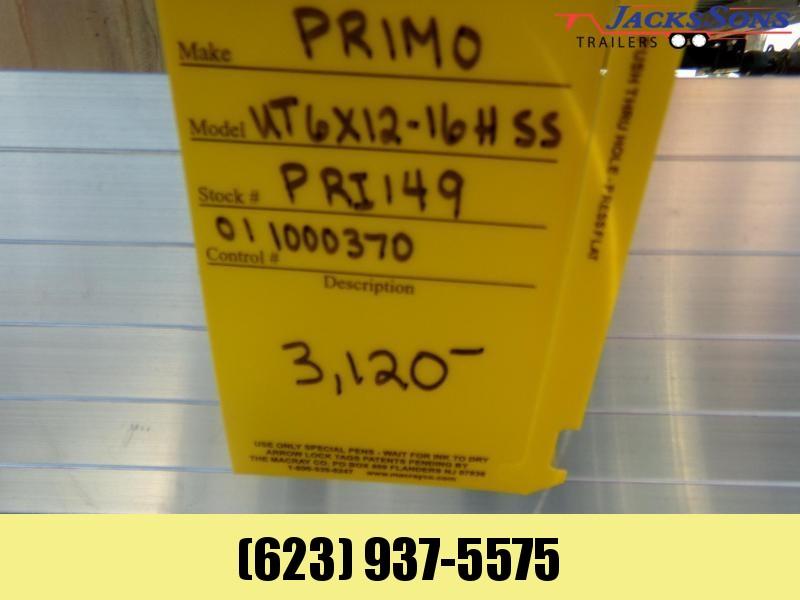 2020 Primo 12X6 FT 16 IN SIDE UTV ATV ALL ALUMINUM UTILTY Utility Trailer