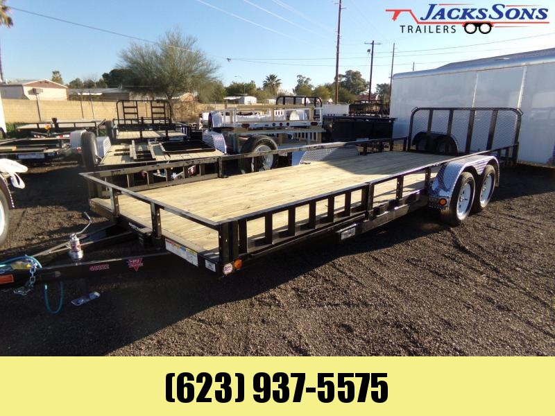 2020 PJ Trailers 22 X 83 UTV / UTILITY RAMP GATE DOVE TAIL ATV Trailer