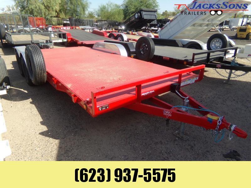 2020 PJ Trailers 18 FT STEEL DECK CAR HAULER RED Car / Racing Trailer