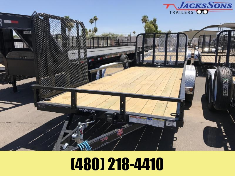 2020 PJ Trailers 18X77 TNDM AXLE CHANNEL Utility Trailer