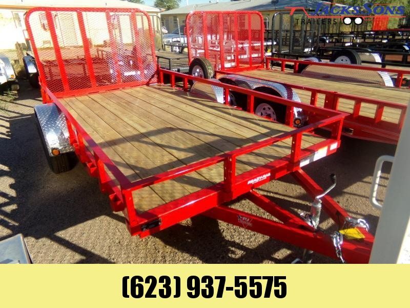 2020 PJ Trailers 77X12 UTV UTILTY RAMP GATE U712 Utility Trailer