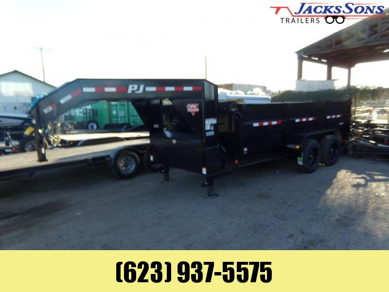 2020 PJ Trailers DE162 16 FT GOOSENECK HD LOW PRO DUMP 22K Dump Trailer