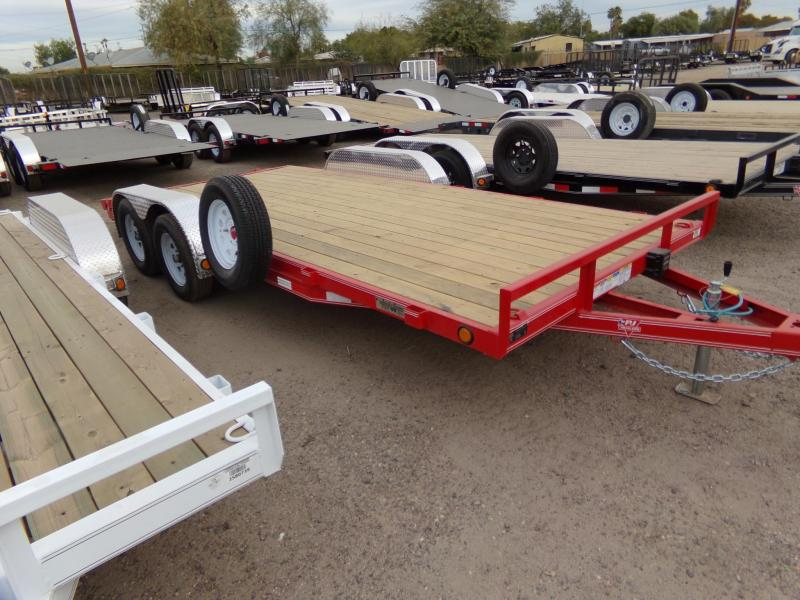 2019 PJ Trailers 18FT CAR HAULER RED POWDER COAT Car / Racing Trailer