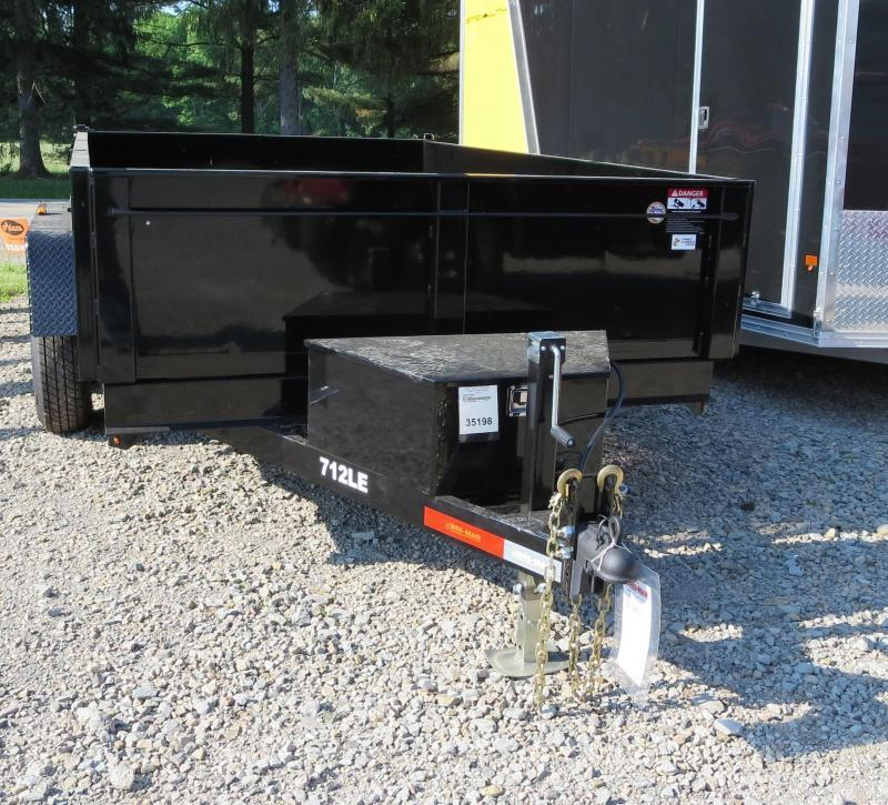 "Bri-Mar DT712LP-LE-10-A 81.5""x12' Low Pro Dump Trailer 10K GVWR"