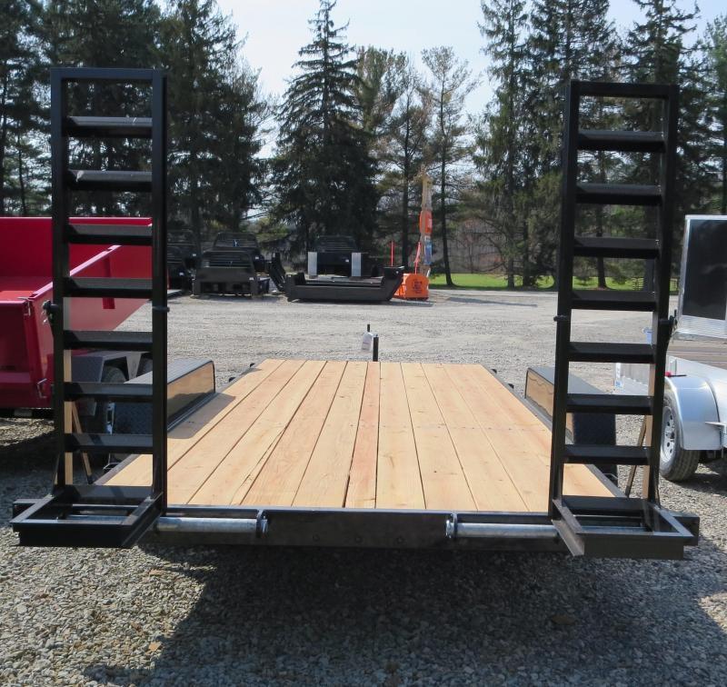 "Bri-Mar EH18-10ELE 84""x18' Equipment Trailer 9.9K GVWR"