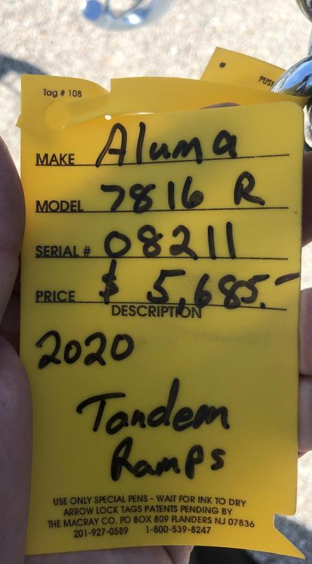 2020 Aluma 7816 Utility Trailer