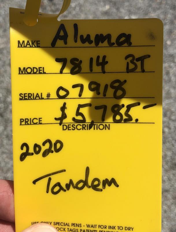 2020 Aluma 7814BT Utility Trailer