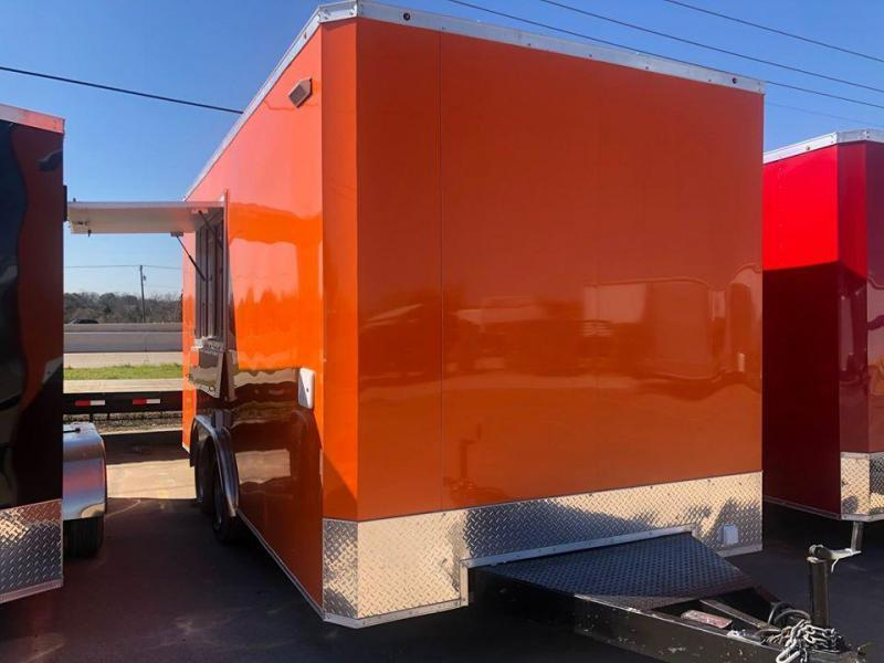 2020 Salvation Trailers 8.5X16TA Orange Vending / Concession Trailer