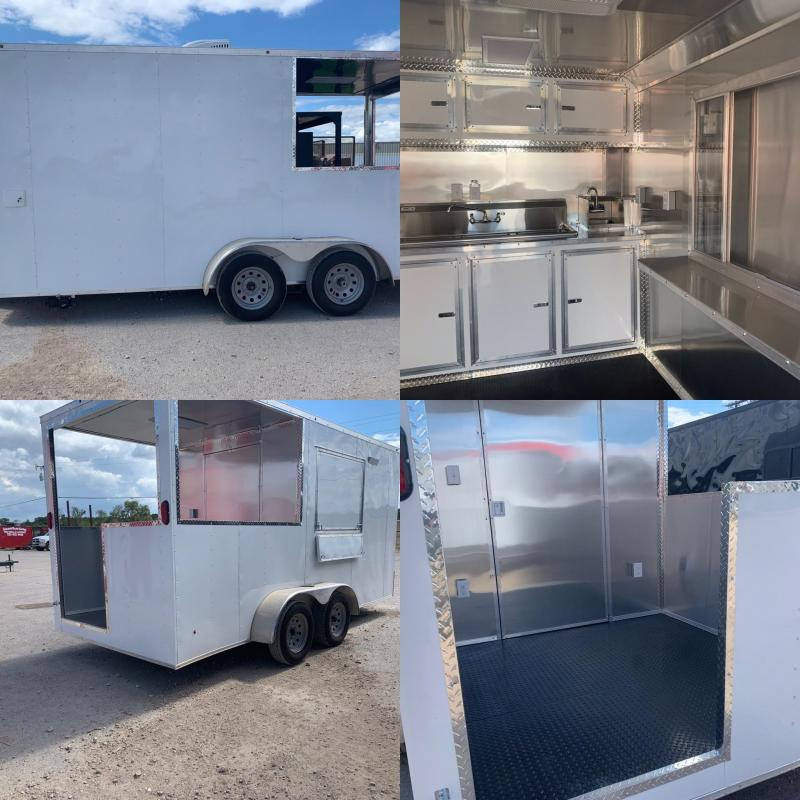 7x16 Vending / Concession Trailer BBQ Trailer