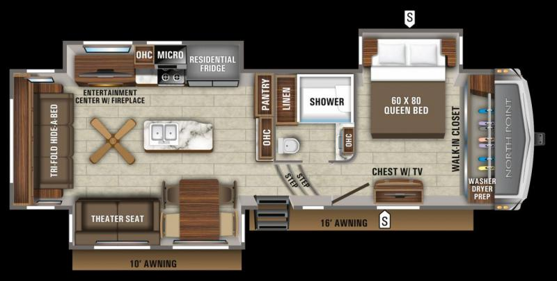 2020 Jayco North Point 310RLTS Fifth Wheel RV