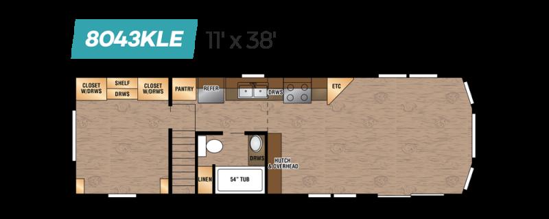 2019 Kropf Lakeside 8043KLE Park Model