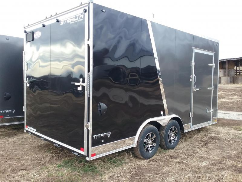 "2020 Stealth Trailers Titan 8.6x16 +12"" 10K Enclosed Cargo Trailer"