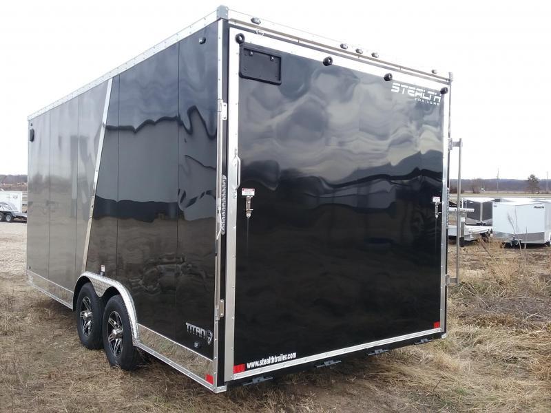 """2020 Stealth Trailers Titan 8.5x18 +12"""" w/Flash Pkg Enclosed Cargo Trailer"""