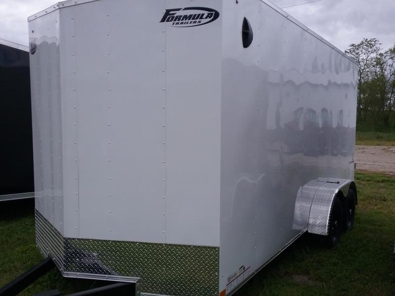 "7X16 (+12"" ADDITIONAL HEIGHT) FORMULA TRAVERSE ENCLOSED TRAILER"