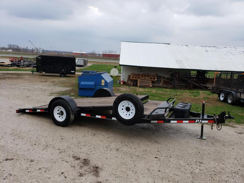 "2017 PJ Trailers 7K 77""X14' Tilt Scissor Lift Equipment Trailer"